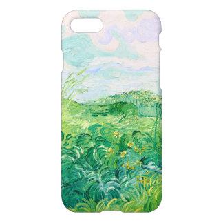 Bella arte verde de Vincent van Gogh de los campos Funda Para iPhone 8/7