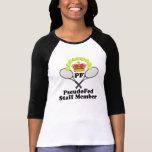 Bella de las mujeres 3/4 camiseta del raglán de la