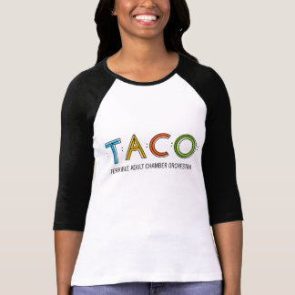 Bella de las mujeres 3/4 camiseta del TACO de la