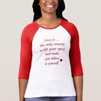 Bella de las mujeres+Camiseta del raglán de la Camiseta