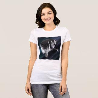 Bella de las mujeres del caballo+Camiseta del Camiseta