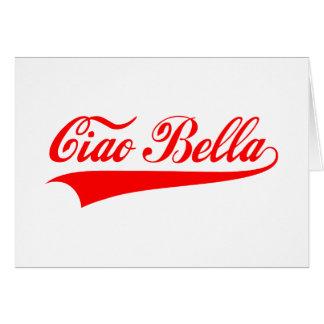 bella del ciao saludo italiano diseño del texto