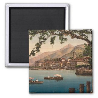 Bellagio I, lago Como, Lombardía, Italia Imán Cuadrado