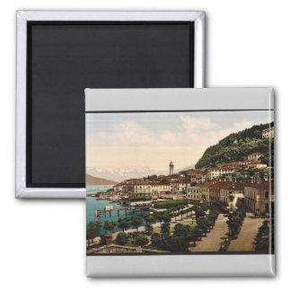 Bellagio, visión general, Como, lago de, vinta de  Imán Cuadrado