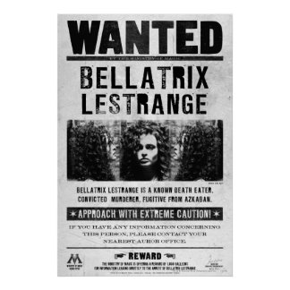 Bellatrix Lestrange quiso el poster Póster