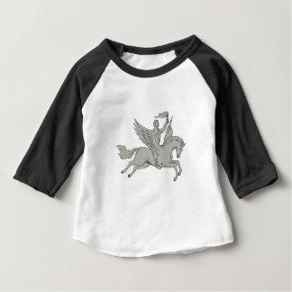 Bellerophon que monta Pegaso que sostiene el Camiseta De Bebé