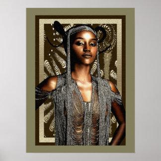 Belleza ceremonial tribal póster