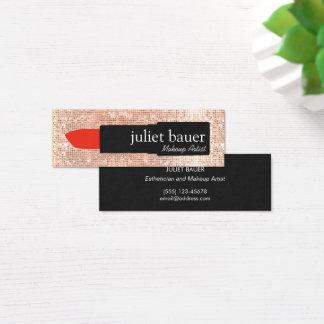 Belleza color de rosa del lápiz labial del artista tarjeta de visita pequeña