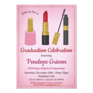 Belleza de la invitación de la graduación de los
