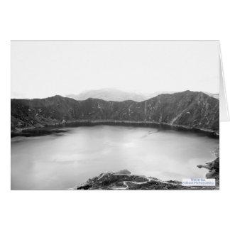 Belleza de la montaña blanco y negro (4,0) tarjeta de felicitación