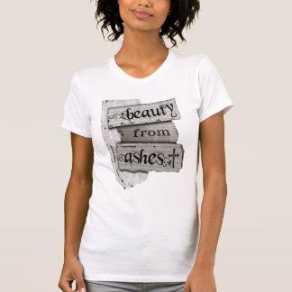 Belleza de la mujer cristiana de las cenizas de la camisetas
