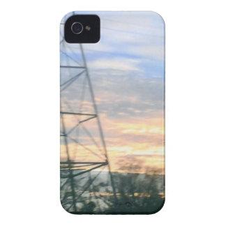 Belleza de la puesta del sol Case-Mate iPhone 4 protectores