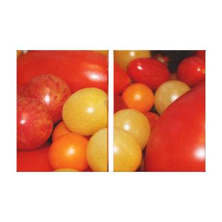 Belleza de los tomates lienzo