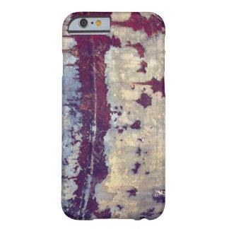 Belleza del color y textura en el metal funda barely there iPhone 6