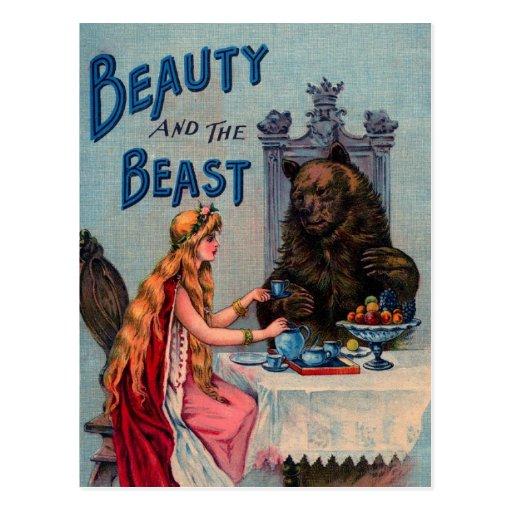 Belleza del vintage y la bestia postal