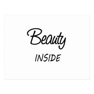 belleza dentro postal