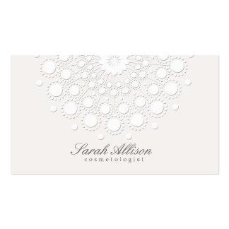 Belleza elegante y simple del blanco del tarjetas de visita