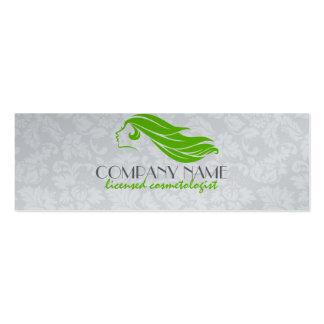 Belleza femenina de los damascos/cosmetología verd tarjetas de visita mini