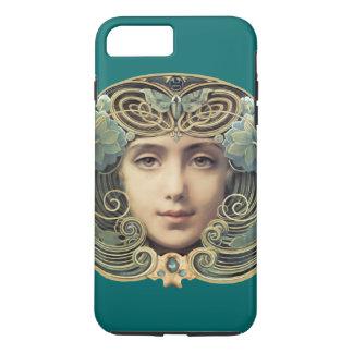Belleza femenina del vintage de Nouveau Funda iPhone 7 Plus