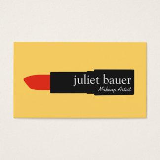 Belleza moderna amarilla intrépida del lápiz tarjeta de negocios