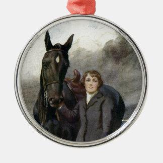Belleza negra - ella me eligió para su caballo adorno de cerámica