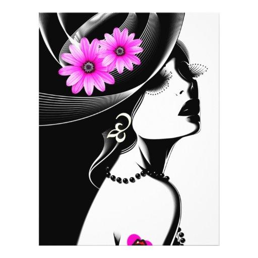 belleza negra flyer personalizado