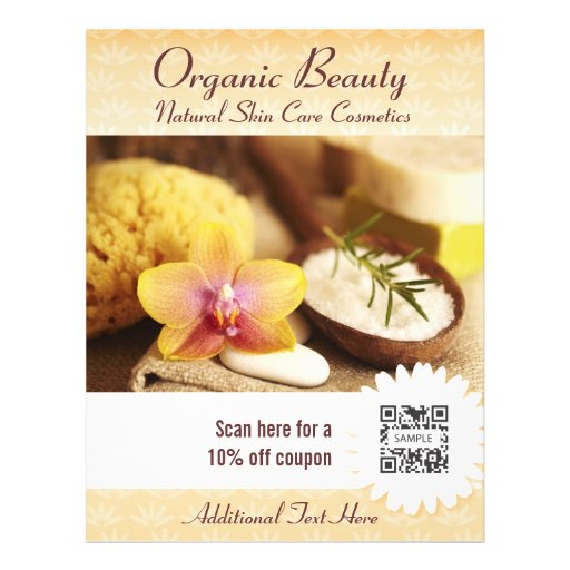 Belleza orgánica de la plantilla del aviador tarjetas publicitarias