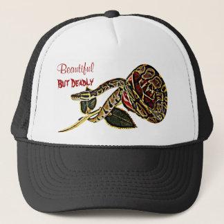 Belleza peligrosa del gorra de la serpiente del