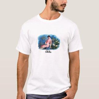 Belleza tropical hawaiana de la hawaiana del camiseta