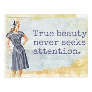 Belleza verdadera - postal