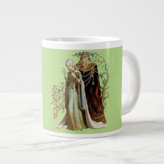 Belleza y la bestia taza de café grande