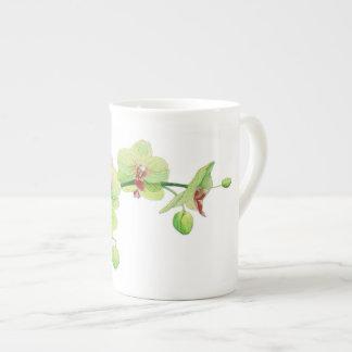Bellezas del flor pequeña taza de China - orquídea
