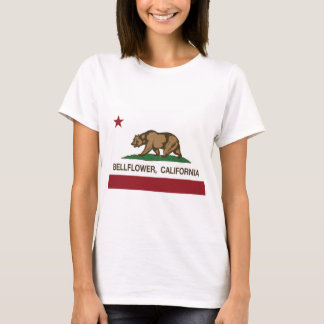 bellflower de la bandera de California Camiseta