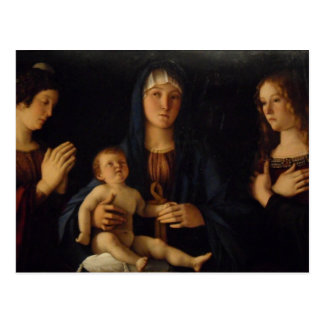 Bellini Madonna en Venecia Postal