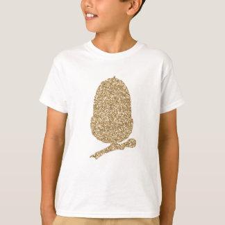 Bellota del brillo del oro camiseta