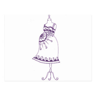 Belly embarazada de la alheña tarjeta postal