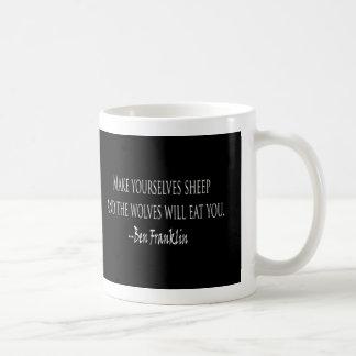 Ben Franklin - las ovejas y los lobos citan la Taza De Café