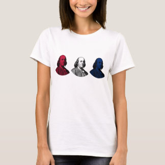 Ben Franklin -- Rojo, blanco, y azul Camiseta