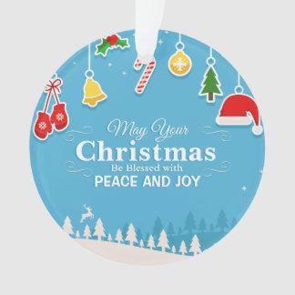 Bendecido con el ornamento del navidad el   de la