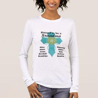 Bendecido para ser una camisa cruzada verde