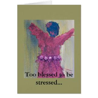 Bendecido también para ser tarjeta de felicitación