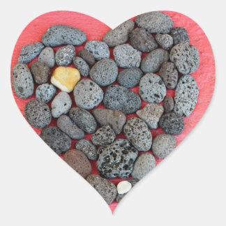 Bendición de corazón pegatina en forma de corazón