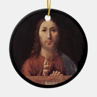 Bendición de Cristo Adorno De Cerámica
