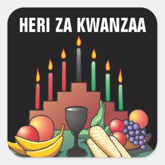 Bendición de Kwanzaa Pegatina Cuadrada