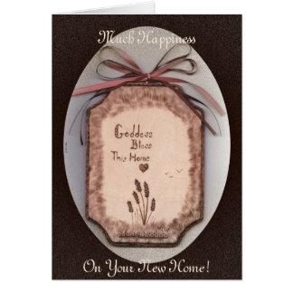 Bendición de la casa de la diosa/nuevo pentáculo c tarjeta de felicitación