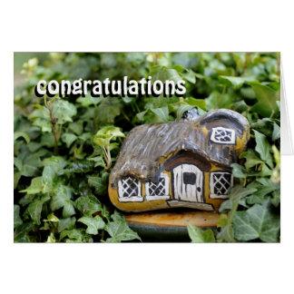 Bendición de la nueva casa tarjeta de felicitación