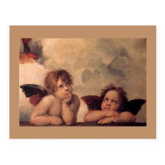 bendición de la pintura del vintage de Raphael de Postal