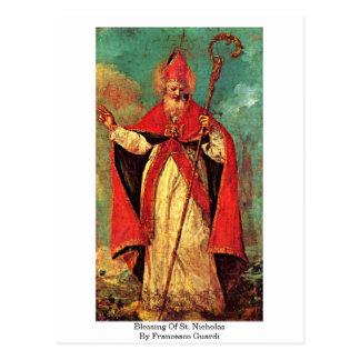 Bendición de San Nicolás de Francesco Guardi Postal
