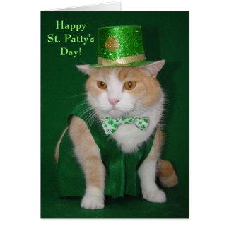 Bendición del gatito de Bubba del irlandés Tarjeta De Felicitación