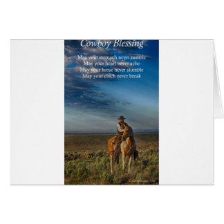 Bendición del vaquero tarjeta de felicitación